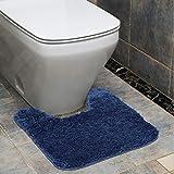 OMUSAKA Alfombra de baño Shaggy Cojín Rectangular Lavable...