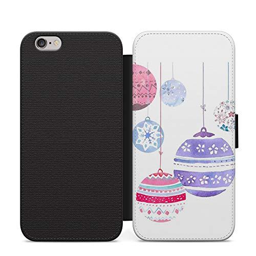 Campanas colgantes Navidad Año Nuevo Billetera Cuero Flip teléfono caso cubierta para Google Pixel 3 XL