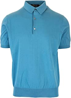 LORO PIANA Luxury Fashion Mens FAI61757192 Light Blue Polo Shirt |