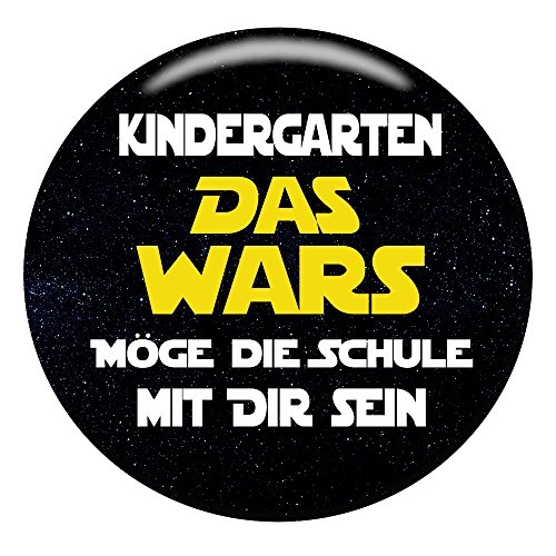 Polarkind Button Pin Anstecker Schulkinder Geschenk zum Schulanfang 2021 38mm Handmade (Motiv: Das Wars)