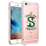 Comdoit Riverdale Phone Case for iPhone 6s and iPhone 6, Shock-Absorption Bumper Cover, Anti-Scratch Clear Back