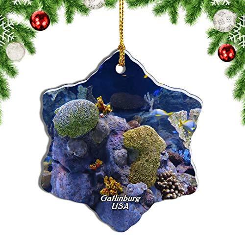 Weekino USA Amerika Gatlinburg Ripleys Aquarium der Smokies Weihnachten Anhänger Baum Weihnachtsdeko Baumschmuck zum Hängen Reiseandenken