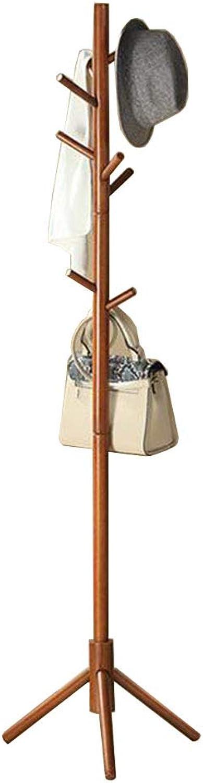 JIAYING Coat Racks Solid Wood Coat Rack Premium Wooden Coat Rack Free Standing Floor-Standing Hangers Home Simple Design Branch Shape greenical Clothes Rack Multifunction (color   A)