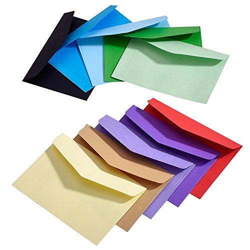 100 Piezas Mini Sobres de Multicolor Adorables y Lindos (4,5 x 3,15 Pulgadas) para Materiales de Regalo de Fiesta de Boda y Cumpleaños