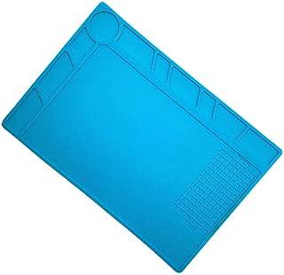 Estera de soldadura resistente al calor, YooGer estera de silicona antideslizante, aislante, antiestático