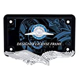 United Pacific Industries 50124 Chrome/Black Eagle Motorcycle License Plate Frame