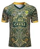 2019 Afrique du Sud Springboks Rugby Jersey, T-Shirt Graphique en Jersey de Coton de la Coupe du Monde, t-Shirt de Sports de Rugby édition 100e Anniversaire, Maillot de Football de compétition