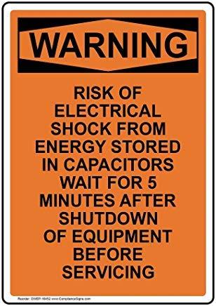 Adhesivo de Advertencia de Riesgo de Choque eléctrico, 5 Minutos, Autoadhesivo, 25,4...