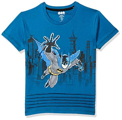 Batman By Kidsville Plain Regular fit Boy T-Shirt (STY-18-19-001618_WHITE6 4-5 Years)