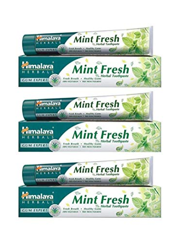 Himalaya Mint Fresh Herbal Toothpaste Gum Expert Range for Healthy, Protected Gums and Fresh Breath, 75 ml (3 Pack)…