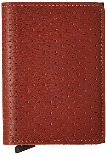 Secrid Perforated Slimwallet Börse mit RFID Schutz 6.8 cm Cognac