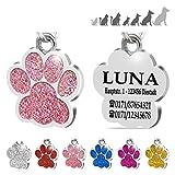Placa Chapa de identificación Personalizada para Collar Perro Gato...