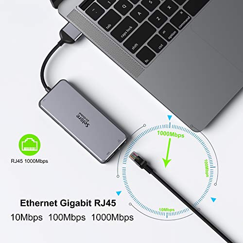 USB C Hub, Docking Station zu Dual HDMI 4K Ethernet RJ45, VGA, Audio, USB-C PD 100W, SD/TF, 2 USB 3.0 und 2 USB 2.0 Ports, Multiport Adapter 12-in-2 für MacBook Pro MacBook Air 2020