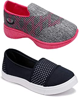 Shoefly Women Combo Pack of 2 Multicolour Latest Collection Loafers Sneakers Shoes (Combo-(2)-1152-11032)