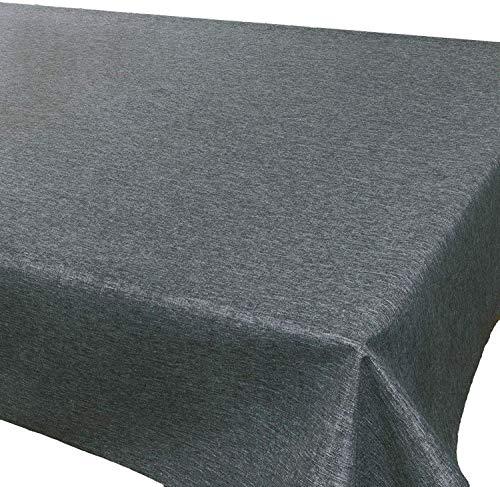 Tischdecke Wien, anthrazit, 140x280 cm, Fleckschutz, Tischdecke für das ganze Jahr