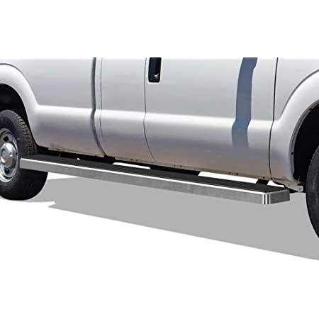 APS iBoard Running Boards 4in Black Compatible with Ford F250 F350 Super Duty 1999-2016 Regular Cab Nerf Bars Side Steps Side Bars