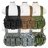 ATG Tactical AK Chest Rig Magazine Pouches Vest Utility Pouches Adjustable MOLLE (Black)