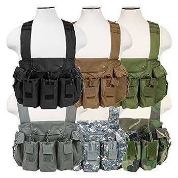 ATG Tactical AK Chest Rig Magazine Pouches Vest Utility Pouches Adjustable MOLLE  Black