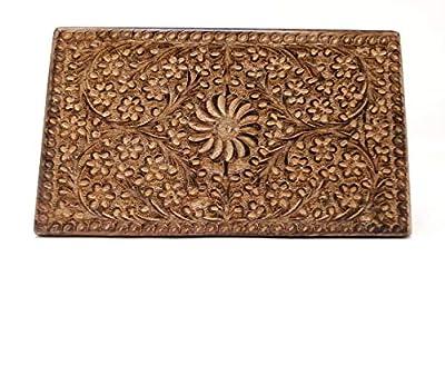 storeindya Thanksgiving Gifts Wooden Jewelry Keepsake Trinket Storage Box Organizer Holder Handmade Box for Girl Women