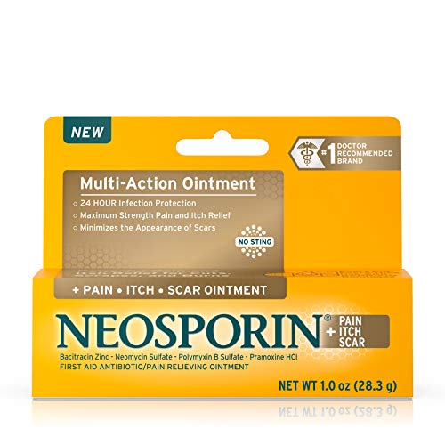 Neosporin Pain Itch Scar Antibiotic Ointment for Infection Prevention and Pain Relief 10 oz