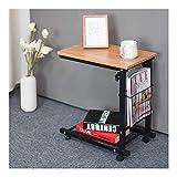 XJL Tavolo Pieghevole Laptop Table Tavolino Altezza Regolabile, Scrivania Portatile, for Letto E Divano, Tavolo Regolabile in Altezza (Color : Teak)