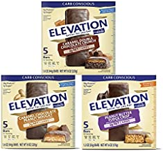 Millville Elevation Protein Bars Snack Bundle, 3 Variety Flavors in One Pack, Chocolate Energy Protein Bars, Chewy Choco Energy Snack Bars for Carb Conscious