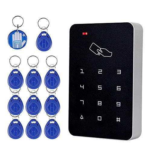 OBO HANDS RFID Standalone Zutrittskontrollkartenleser mit digitaler Tastatur + 10 EM4100 Tags für Haus / Wohnung / Fabriksicheres System (T22)
