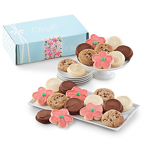 Cheryl#039s Cookies Mother#039s Day Classic Gift Box with Frosted Flower cookies 24 Cookies