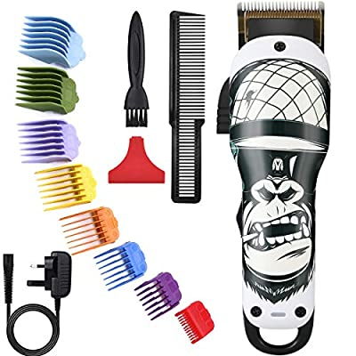 Pro Hair Clipper,BESTBOMG Gorilla Hair Trimmer for Men 2 Speeds Corded/Cordless Clipper 2000mAh Battery, 5500 RPM, 8 Colorful Guide Combs