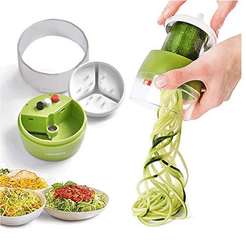 Mingcheng Spiralizzatore di Verdure 4 in1Tagliapasta per Verdure Multifunzione Taglia Verdure a Spaghetti per Carota, Cetriolo, Patate, Zucca, zucchine, Cipolla