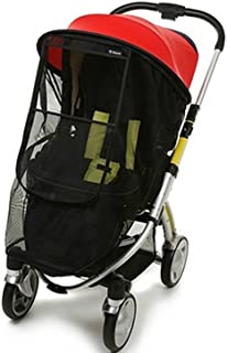 Manito Magic Shade (Sun Shade + Mosquito Net 2-in-1) for Strollers - Red/Black