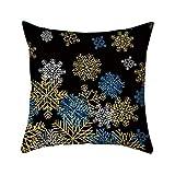 クリスマスの飾り プリントクッションカバー 冬 ドワーフ エルク サンタパターン コットンリネン枕カバー 45x45 cm