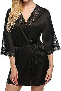 8d4c7284316 Womens Lingerie Night Robe for Sex Big Sale- Jiayit Fashion Sexy V Neck  Nightwear Sleepwear
