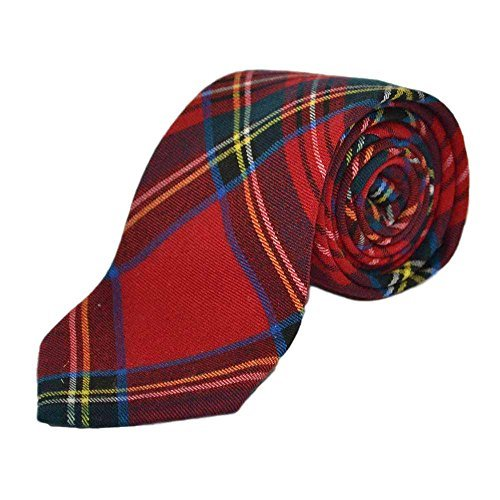 Red Tartan Check Tie