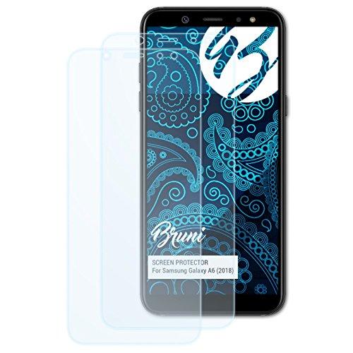 Bruni Schutzfolie kompatibel mit Samsung Galaxy A6 (2018) Folie, glasklare Bildschirmschutzfolie (2X)