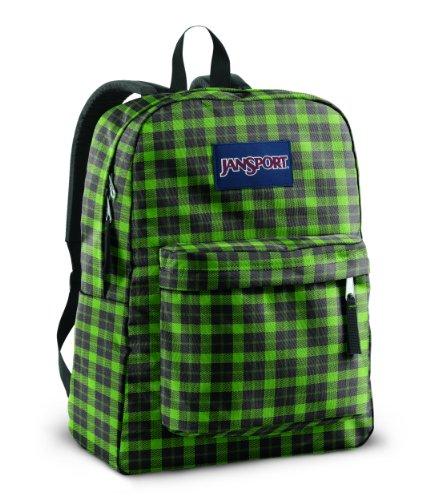 JanSport SuperBreak Backpack (Hedge Green Frontier Plaid)