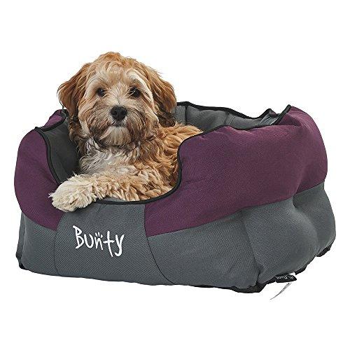 Bunty Anchor - Cama para Mascotas, Suave, Impermeable, Lavable a máquina, cojín de Cesta, Acogedor, Gato, Animal pequeño, Morado, pequeño, Fabricado en el Reino Unido