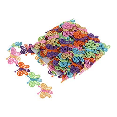 B Blesiya - Borde de Encaje para Tarjetas de Encaje y Cinta de Encaje, Petit Papillon, 2,5cm