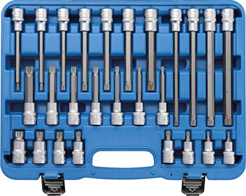 BGS 5180 Bit-Einsatz-Satz Antrieb Innenvierkant 12,5 mm (1/2 Inch) Innenvielzahn (für XZN) 26-tlg