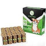 CACAGI - Bolsas de basura para perros, 33% extra gruesas y fuertes, 450 bolsas biodegradables, 100% a prueba de fugas