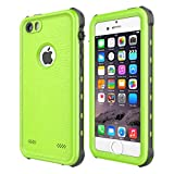 iPhone 5 5S SE Waterproof Case, Upgraded Shockproof Dropproof Dirtproof Rain Snow Proof Full Body Protective Cover IP68 Underwater Case Built-in Screen Protector for iPhone 5S 5 SE (Green)