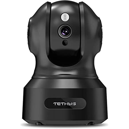 TETHYS Wireless Security Camera 1080P Indoor [Work with Alexa] Pan/Tilt WiFi Smart IP Camera Dome Surveillance System w/Night Vision,Motion Detection,2-Way Audio,Cloud for Home,Business, Baby Monitor