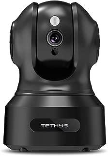 TETHYS Wireless Security Camera 1080P Indoor [Work with Alexa] Pan/Tilt WiFi Smart IP..