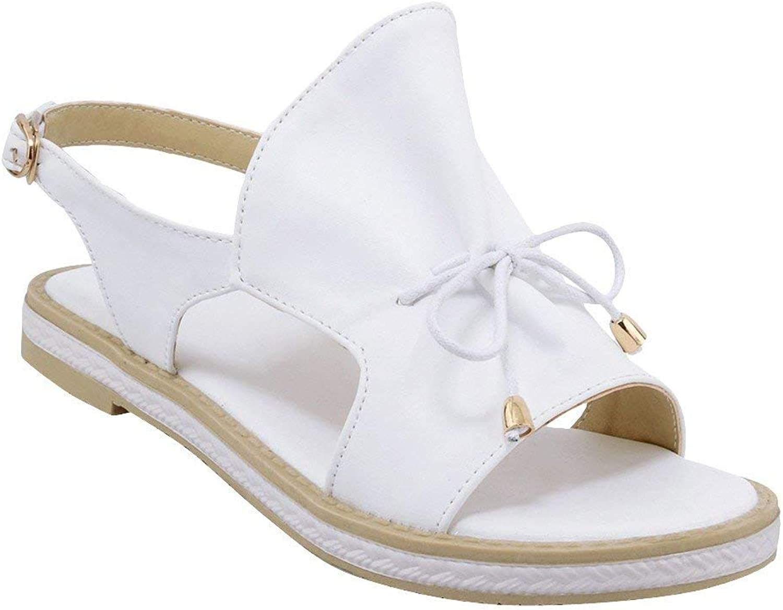 Gedigits Women's Bows Open Toe Ankle Strap Comfort Flats Sandals Black 4.5 M US