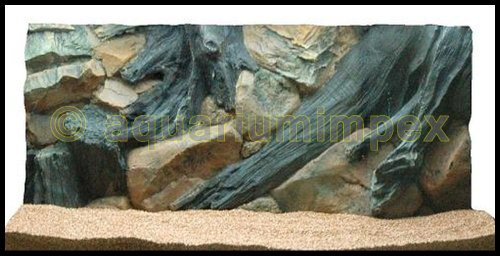 3D Aquarienrückwand 80x40 Root