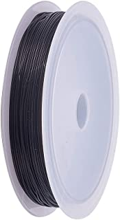 JEWELEADER 1 Roll 20 Yards Elastic String, Crystal Elastic Thread 0.5mm Black Stretch Bead String Cord for Crafts Jewelry ...