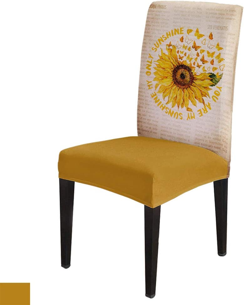 Dining Chair Max 89% OFF Slipcover Sunflower Art Removable D Bargain sale Stretch Spandex