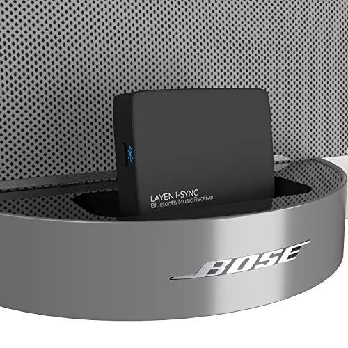 LAYEN i-SYNC Bose Bluetooth-Empfänger 30-poliger Adapter - Audio-Dongle für Bose SoundDock und andere HiFi-, Stereo- und 30-polige Dockingstationen (nicht für Autos geeignet)