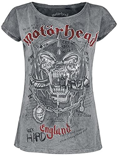 Motörhead Marilyn Quotes Mujer Camiseta Gris Claro XXL, 100% algodón, Vintage Regular
