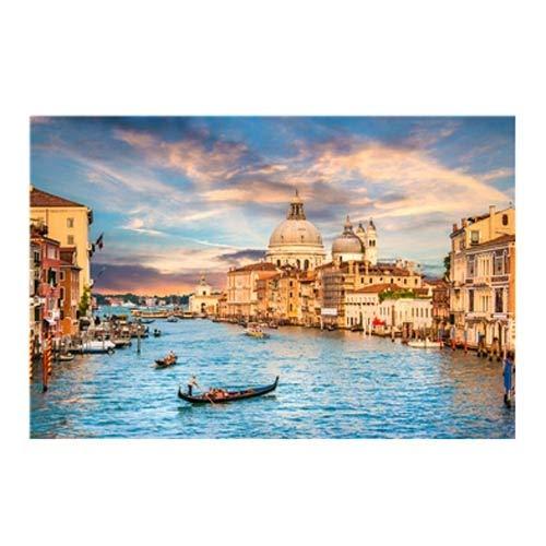 Ybjsy Rompecabezas de Madera de Arquitectura del Paisaje Puerto de Venecia Ciudad Flotante 1.000 tabletas Casa decoración de la Pared Pintura de descompresión Juguetes educativos de n